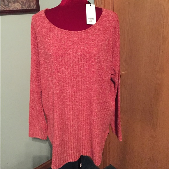 00db9f28858 ☄ ☄️FLASH SALE CORAL RUST NWT CABLE KNIT TUNIC
